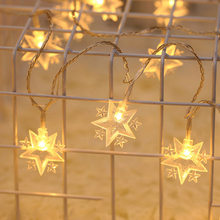 NEW Led Christmas Stars Moon String Light Outdoor / Indoor Fairy Lamp small lanterns room holiday decoration lights(China)