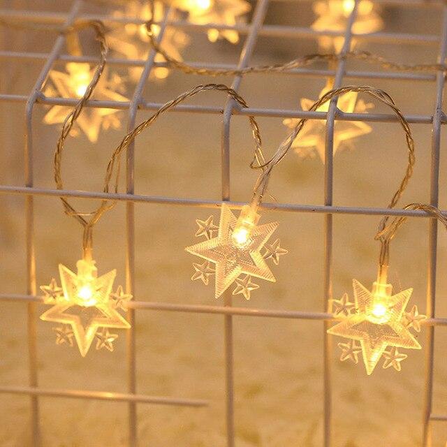 NEW Led Christmas Stars Moon String Light  Outdoor / Indoor Fairy Lamp small lanterns room holiday decoration lights