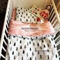 120*60 cm 130*70 cm cute baby crib bedding set 100% algodón incluidos hojas planas bebé bedding patrón de nubes de pino corona para niñas