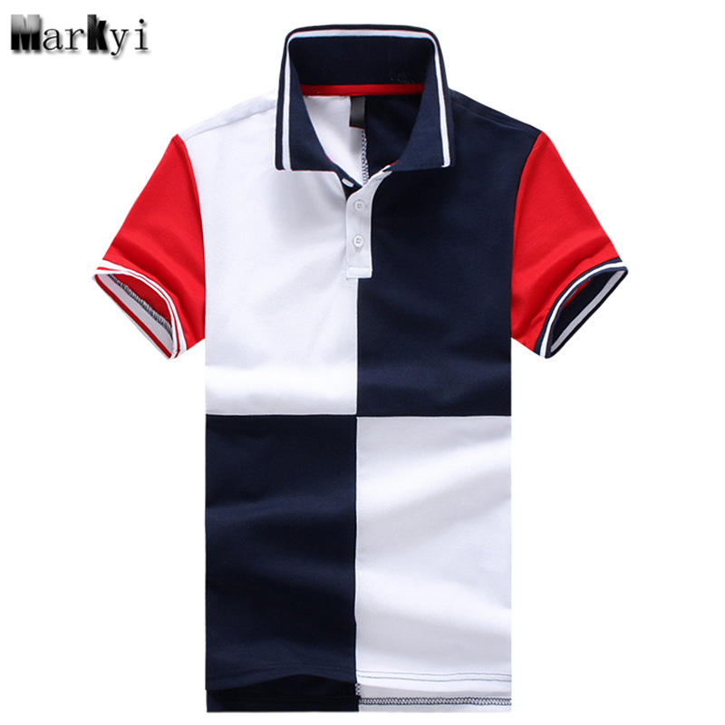 Markyi Summer Style Patchwork Mens Polo Shirt Brands 2018 Good