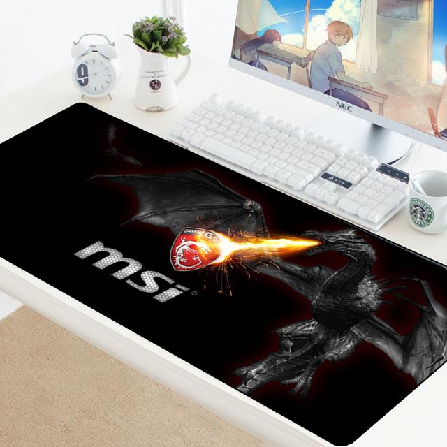 Mouse Pad Large XL Gamer Anti-slip Rubber Pad Mat MSI Logo Gaming Mousepad to Keyboard Laptop Speed Mice Mouse Play Mat 70x30CM