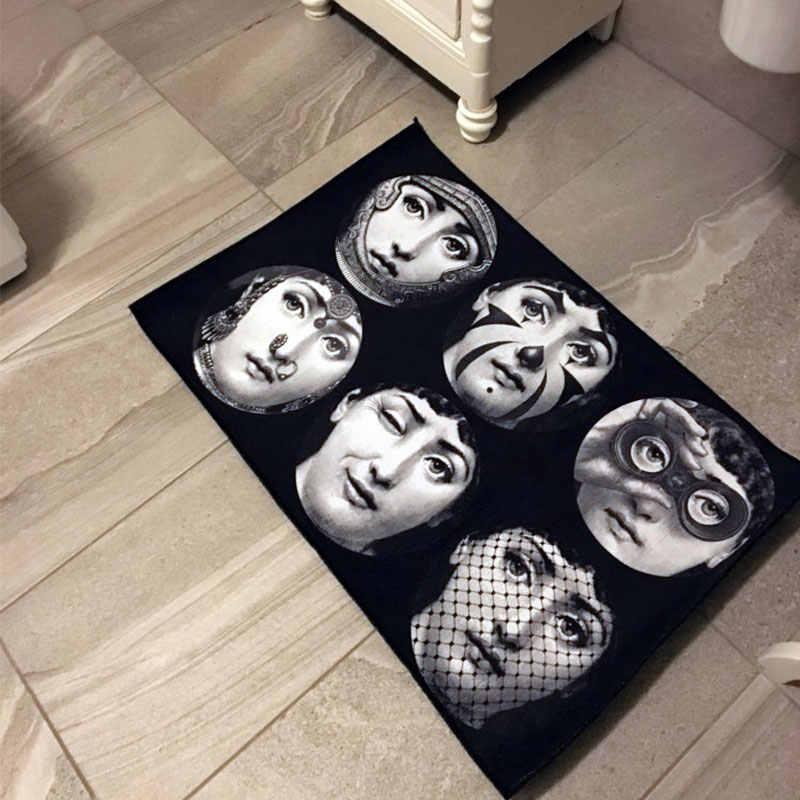 Fornasetti Acesso Do Corredor Sala de estar Banheiro Nórdico Home Indoor Sala Quarto Cabeceira Tapete Cozinha Tapete Tatami Tapete