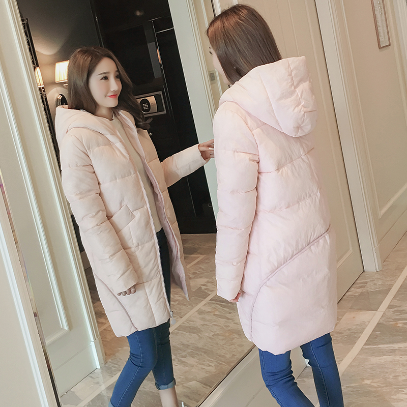 Pregnant women jacket winter fashion feathers cotton ladies long section of pregnant women warm cotton coats short section cotton coats winter bread clothing thickening keep warm jacket 2017new women fashion outerwear abrigos mujerlh097