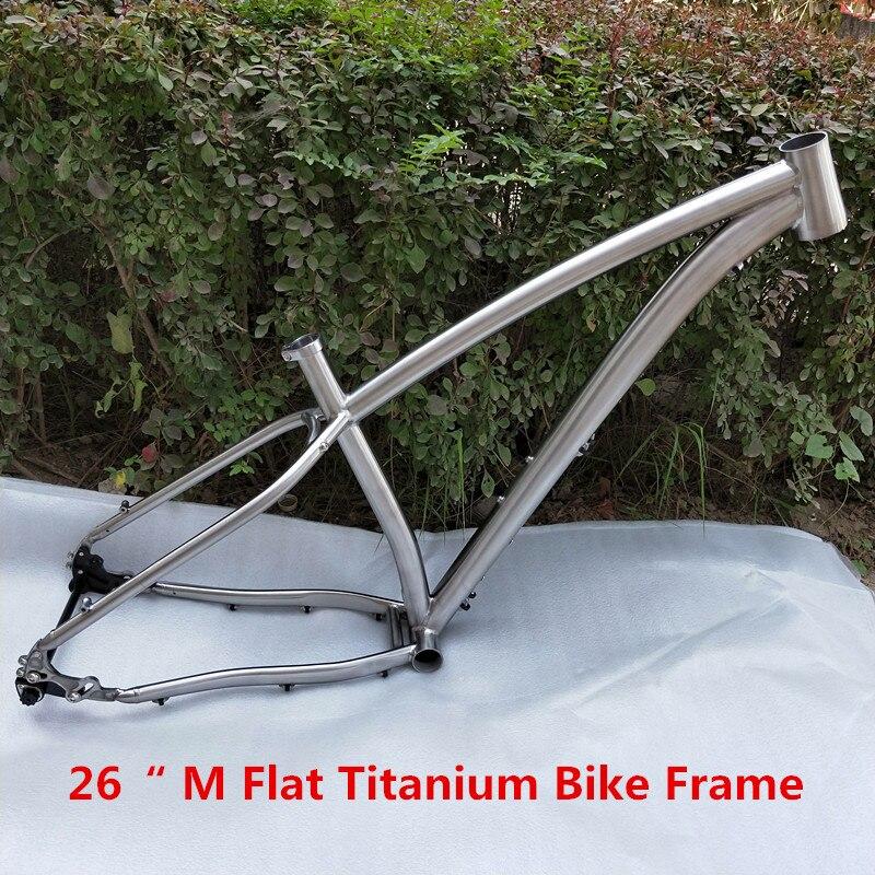 Best Quality !!! PYTITANS Titanium Fat bike frame 26″ 197 Hub Snow Bike Frame Titanium Alloy Material Factory Directly Selling