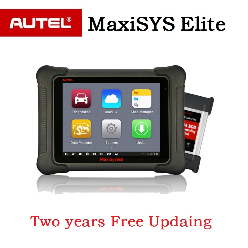 AUTEL MaxiSys Elite Auto Programming Scanner 2 years Free Update car Diagnostic tool J2534 ECU programmer PK  MS908P ms908 PRO