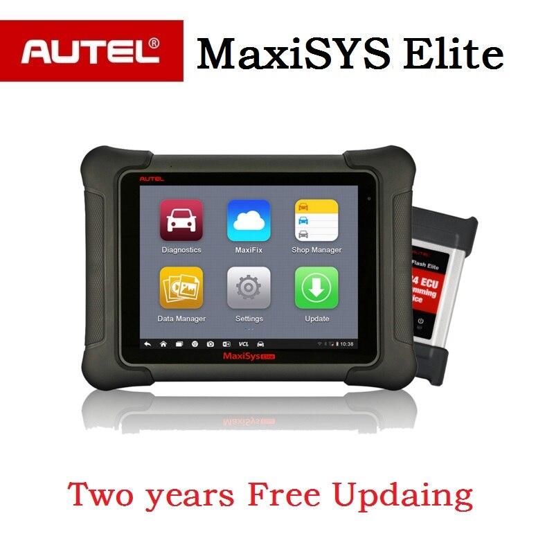 AUTEL MaxiSys Elite Auto diagnostic Programming OBD2 Scanner car Diagnostic tool J2534 ECU programmer PK maxisys pro ms908p