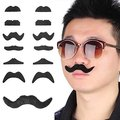 Fake Self-Adhesive Stick-On Mustache Disguise Novelty Toys Set for Birthday, Costume Party, Event Supplies, Favors (48 Pack)
