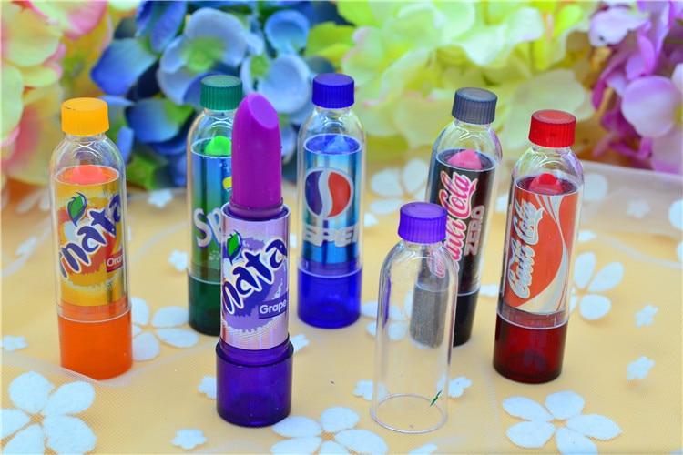 6Pcs With 6 Different Color Makeup Change Color Lip Balm Cola Sweet Cute Moisturizer Faint Scent Lip Balm Lipstick Brand Makeup 5
