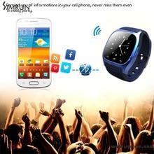 Symrun 2016 Bluetooth Smartwatch M26 Schrittzähler Fitness Tracker Wasserdichte Zifferblatt Sms Erinnern Touch Günstige Smartwatch