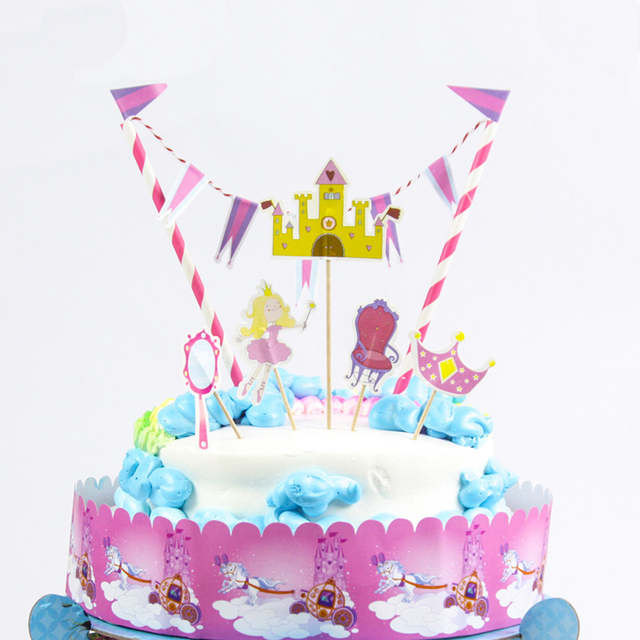 Free Shipping Princess Birthday Cake Topper Birthday Party