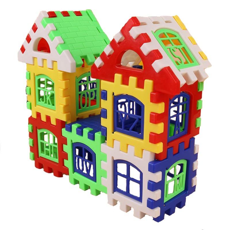 Baby Kids Children House Building Blocks Educational Learning Construction Developmental Toy Set Brain Game 4