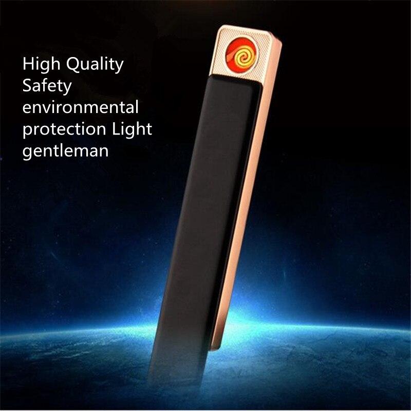 Nueva Personalidad Creativa Encendedores Recargables USB Mute Electrónica Fiebre