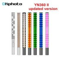 Yongnuo YN360 YN360 II De Poche Bâton de Glace LED Vidéo Lumière batterie intégrée 3200 k à 5500 k RGB coloré contrôlée par Téléphone App