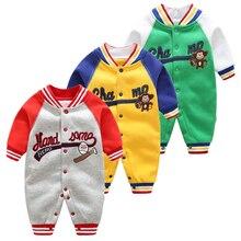 Комбинезон с длинными рукавами для новорожденных мальчиков и девочек; весенне-осенняя одежда; детские спортивные свитера; верхняя одежда; теплые комбинезоны; детские пижамы