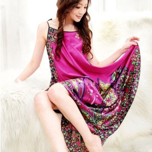 Women Casual Long Chemise Nightgown Sleepwear 4