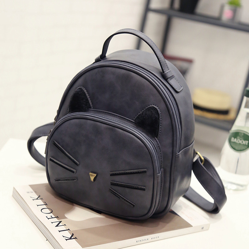 53896b100c7 Kawaii Cat Ear Backpack Black Preppy Style School Backpacks For Teenage  Girls College Style Casual Backpack Sac Mochilas on Sale-in Backpacks from  Luggage ...