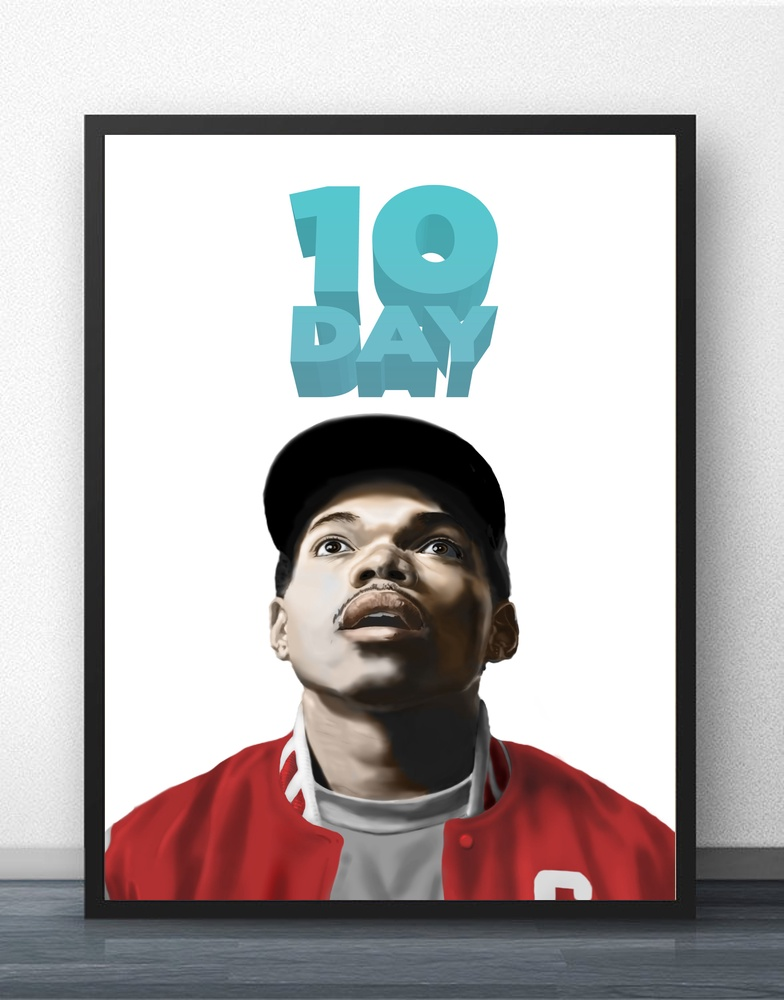 Chance the Rapper Hot Rap Music Stars Art Print Poster Silk Light Canvas Painting Home Decor muñeco buffon