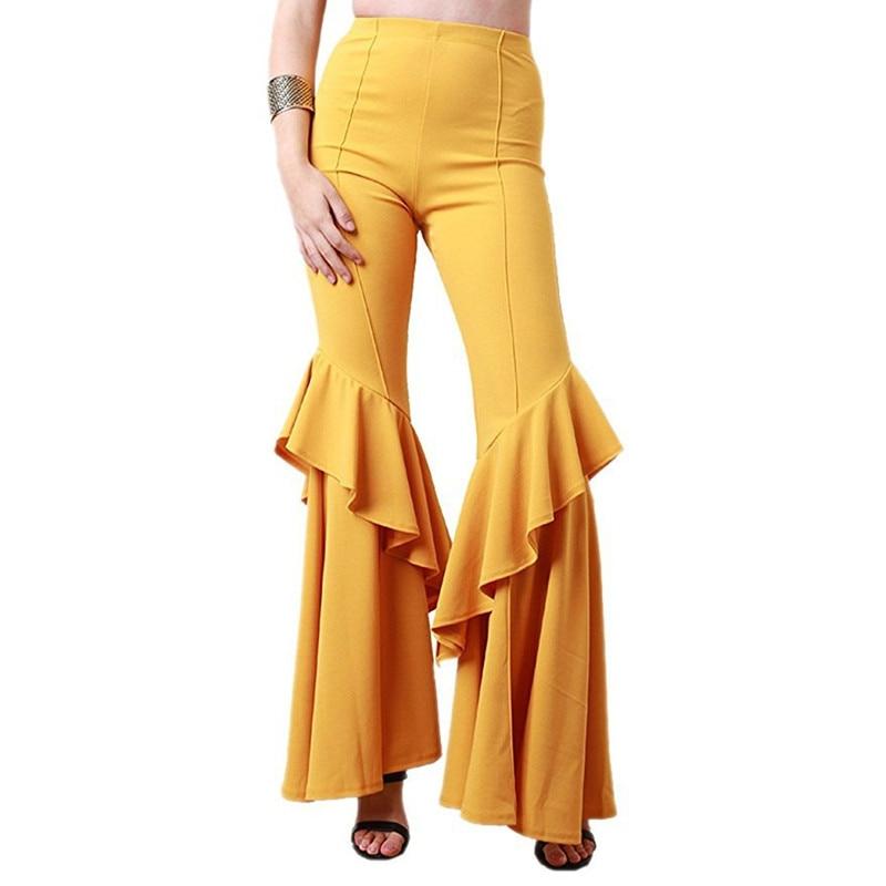 white Cintura yellow De Mujeres red Adelgazamiento Populares Pantalones Nueva Moda gray sapphire Slim Ahora Falda khaki Campana Black Blue Alta Las Mujer Son 1Bd0dwCx