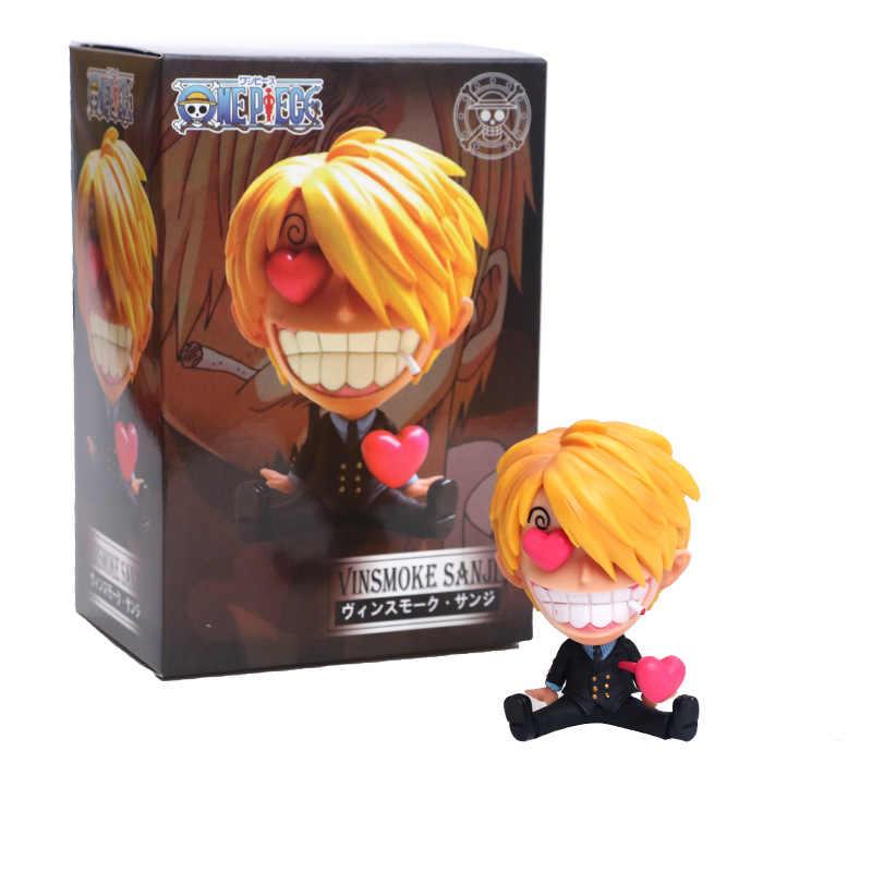 One Piece Luffy Sanji Zoro Q Sentado Ver. Robin Nami Brook Chopper Usopp Infância RANKY OP Ace Ação PVC Figuras Modelo Linda