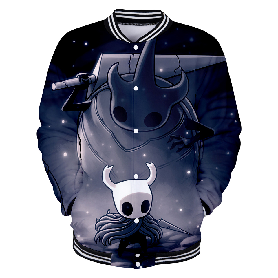 100% Quality New Game Hollow Knight 3d Baseball Uniform For Men Women High Quality Fashion Hip Hop Hollow Knight 3d Baseball Jacket Clothing
