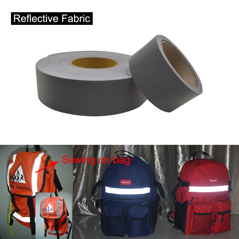 5cmx10m High Visibility Industrial Washable Reflective Fabric Sew on Kinkds of Clothing Free shipping