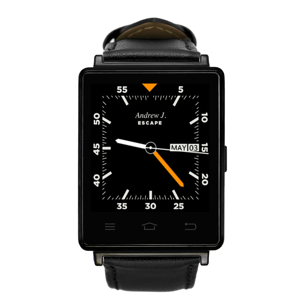 NO.1 D6 3G Smartwatch Phone Android 5.1 MTK6580 Quad Core 1.3GHz GPS WiFi Bluetooth Heart Rate Monitor 3G Smart Watch pk kw88