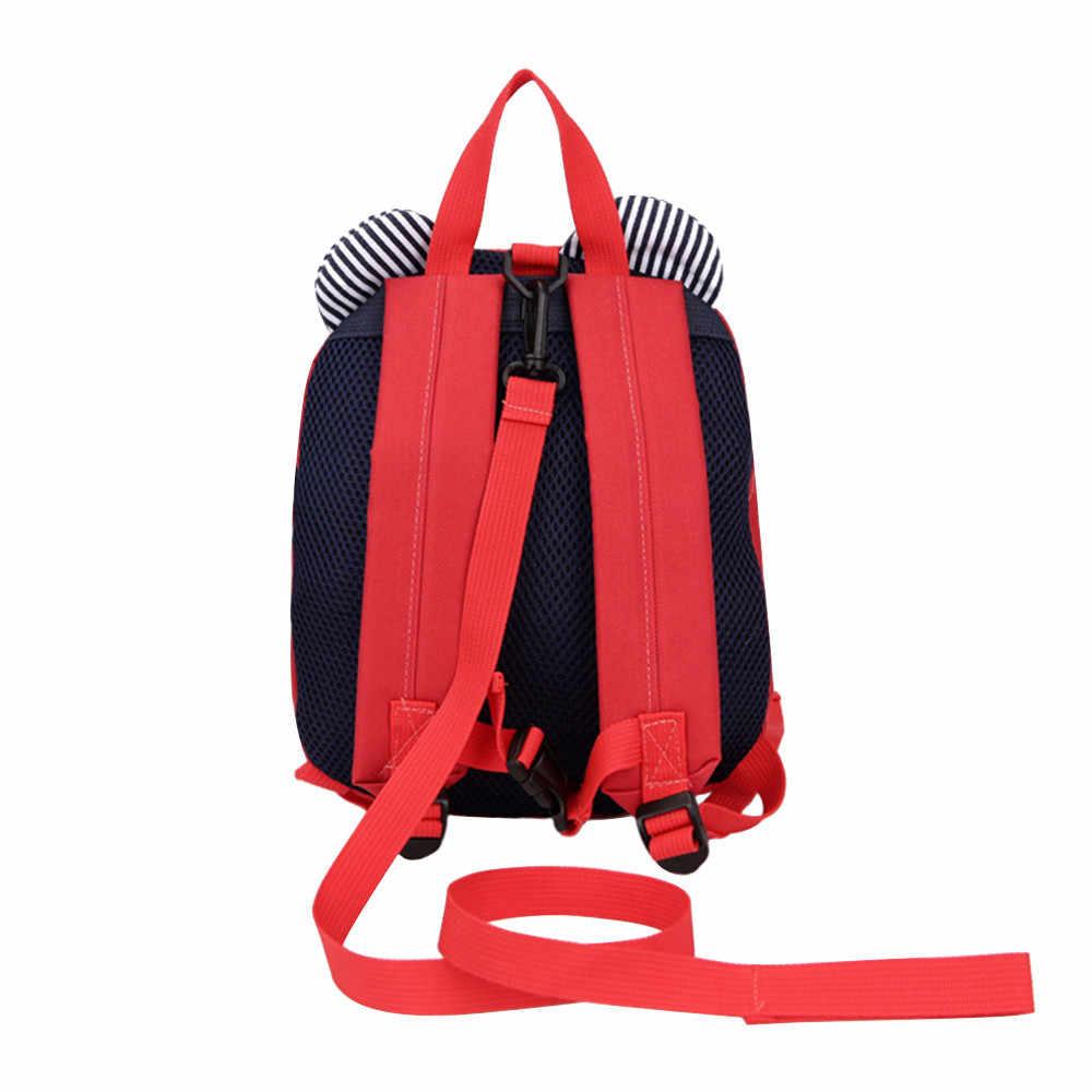 Anti-roubo anti-perdido crianças saco do bebê bonito cão animal crianças mochilas mochila escolar envelhecido 1-3 escola para adolescente dropship