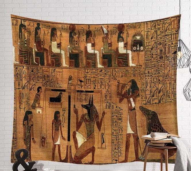Image 5 - CAMMITEVER Vintage Egypt Time Wall Hanging People Bed Sheets Decorative Tapestry Mystery Art Beach Mat 130x150cm 150x200cm-in Tapestry from Home & Garden