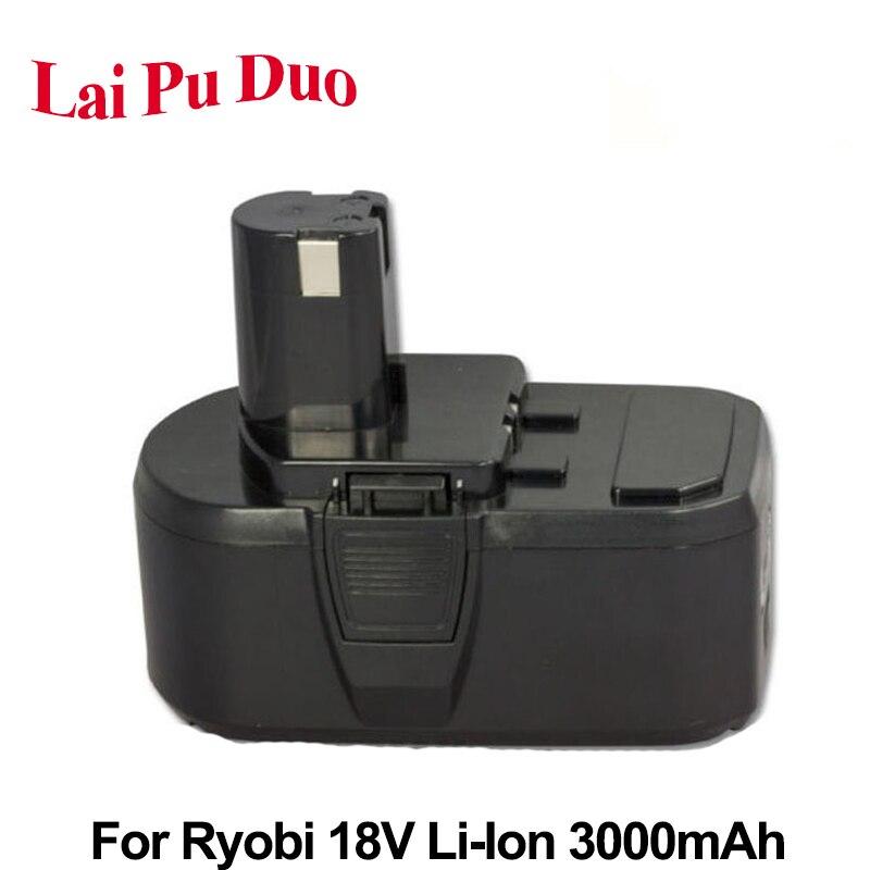 Batterie d'outil électrique de remplacement Li-Ion 3.0Ah 18 V pour Ryobi: P104, BPL-1815, P102, BPL-1820G, P103, P107, P105, P108, P106