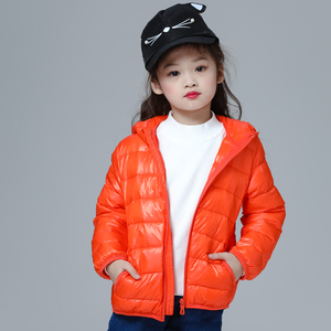 Image 4 - Girls Down Jacket Fashion Children Winter Coat Kids Ultra Light Winter Jackets for Girls Portable Hooded Down Coats for Teenage