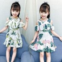Baby Girls Dress 2018 Summer White Beach Dress Ruffle Fly Sleeve Dresses For Kids Cute Korean
