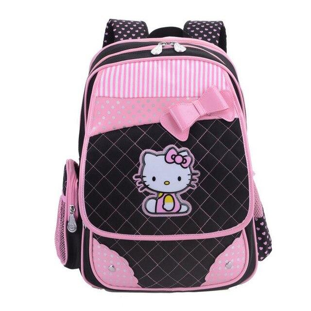 Hello Kitty School Backpacks for Girls Kids Satchel Children School Bags  Cute Orthopedic Backpack Mochila Escolar Rucksack 048138f4d270e