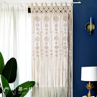 80cm X 180cm Macrame Hand knitted Tapestry Living Room Wall Hanging Decoration Outdoor Wedding Decoration Door Curtain