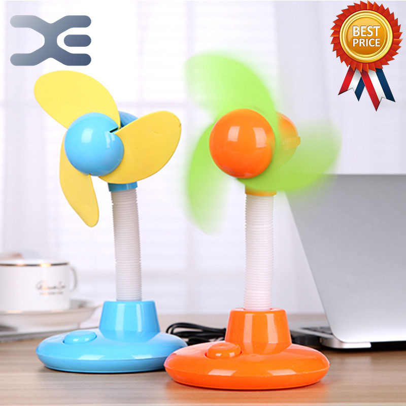 4 Colors Mini Fan USB Soft Blade Hand-Held Mini Fan Rechargeable Summer Portable Fan Creative Low Noise Strong Wind Power new dora fan promise speed control mini hand held portable charge usb blue mini fan