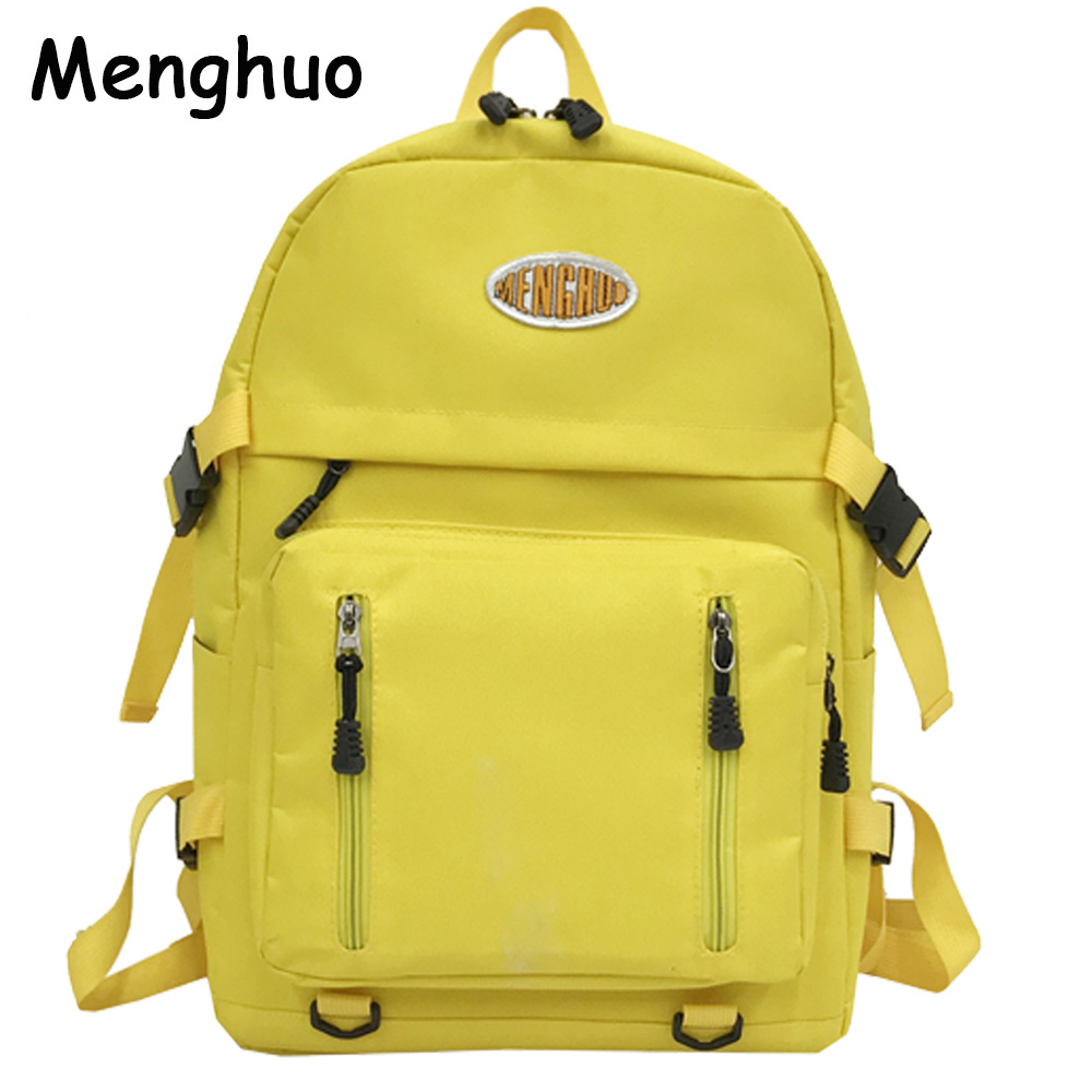 MENGHUO Brand Women Backpack Waterproof Nylon School Backpacks for Teenage Girls Shoulder Bag Large Capacity Travel Bags Mochila tegaote new design women backpack bags fashion mini bag with monkey chain nylon school bag for teenage girls women shoulder bags