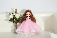 Настройки кукла DIY изменения Блит куклы для подарок на день рождения Подарок на годовщину свадьбы, торжественное платье БЖД кукла белый кож