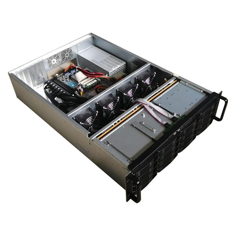 Industial plate-forme minière NAS Serveur De Stockage Châssis IPI Miner16-bay disque dur logement pour alimentation unité minière psu pour filecoin