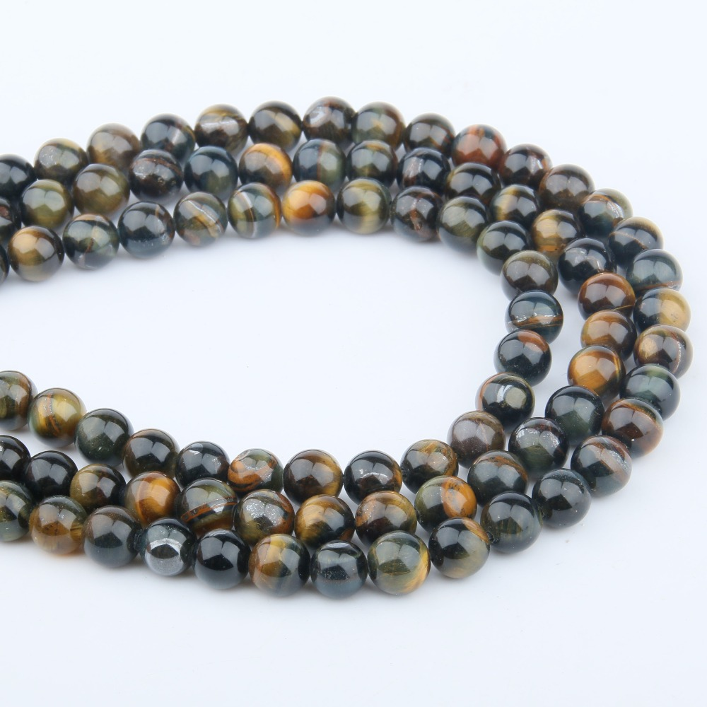 Natural Stone Beads Yellow Blue Tiger Eye 4/6/8/10/12mm Fashion Jewelry Loose Beads For Jewelry Making Necklace Diy Bracelet Wide Selection; Beads