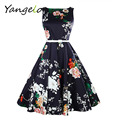 Women Dresses Summer Sexy 50s Pinup Rockabilly Retro Vintage Dress Print Vestidos Robe Femme Casual Beach Party Dress