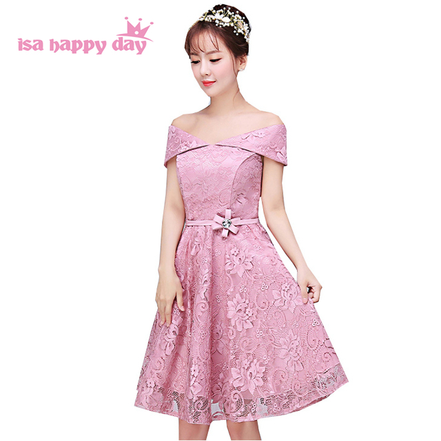new arrival bridal sister boat neck gown short blush dress special ...