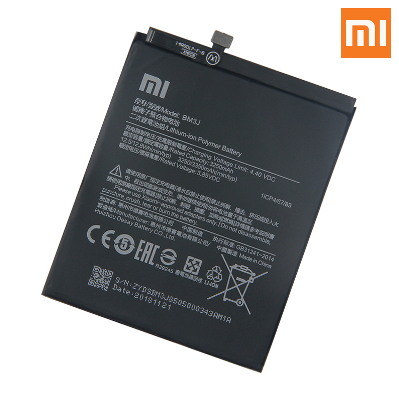 Image 2 - Xiao Mi Original Replacement Phone Battery BM3J For Xiaomi 8 Lite MI8 Lite Genuine Rechargeable Battery 3350mAh-in Mobile Phone Batteries from Cellphones & Telecommunications