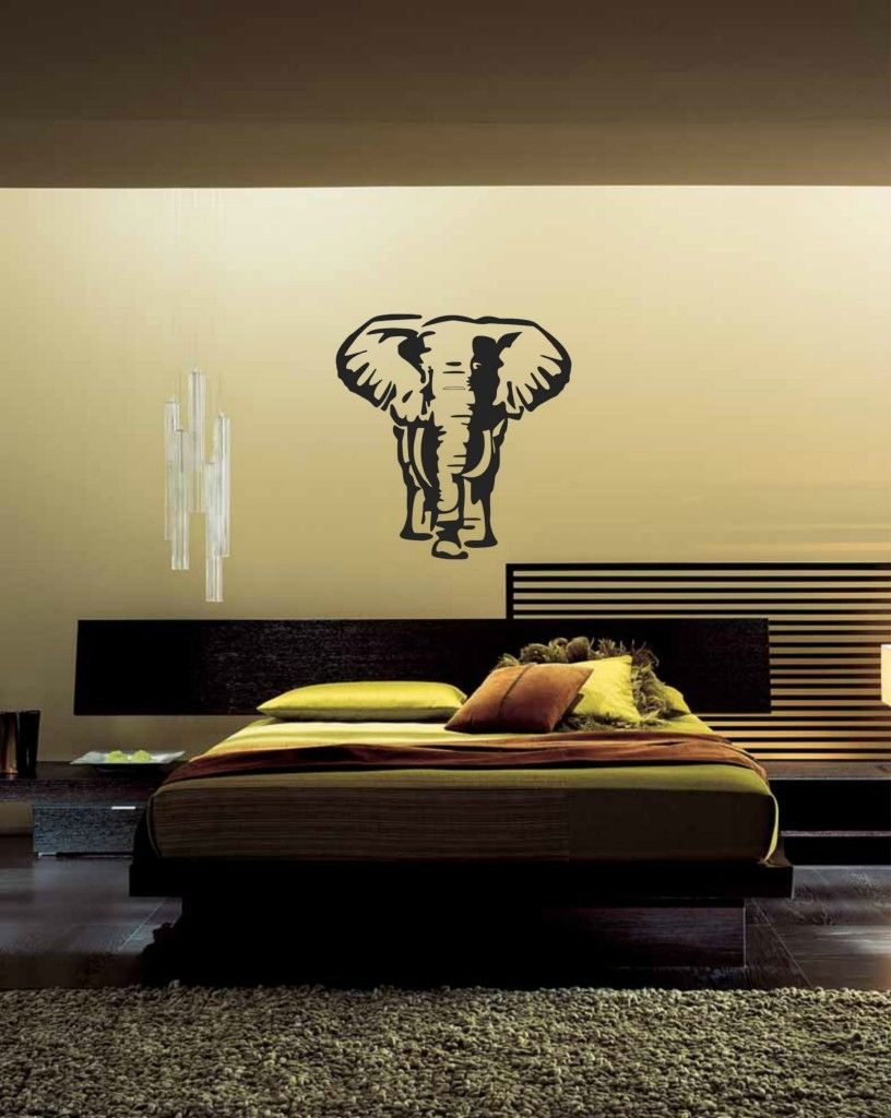 Famous Large Bangkok Elephant Animal Wall Stickers For Living Room