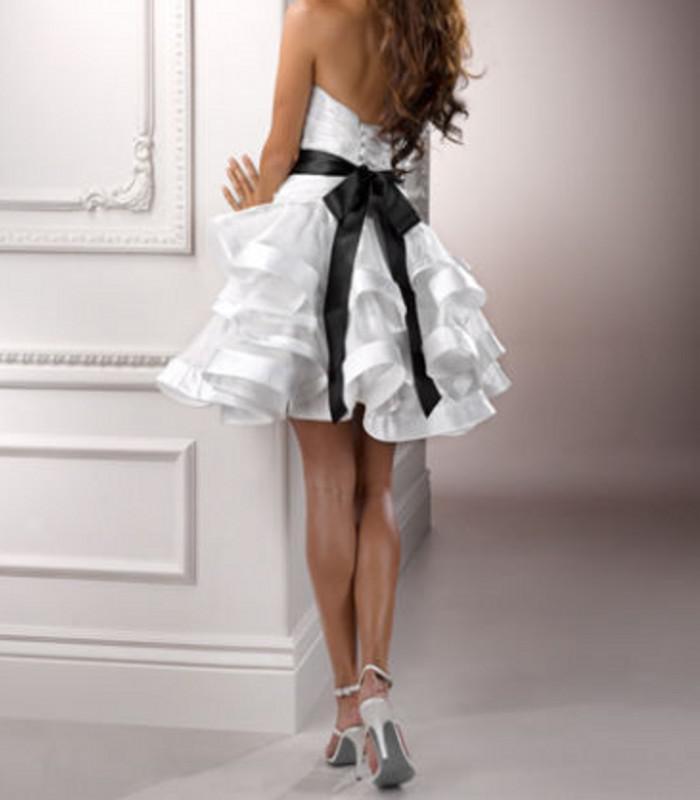 Livraison gratuite 2016 nouveau mode robe de noiva mariée formelle plus la taille casamento élégante courte Robe de mariage de partie de mariée robes
