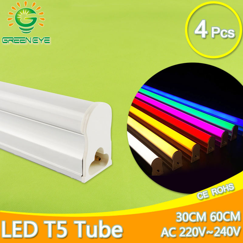 Fluorescent Light Glowing Red: Aliexpress.com : Buy LED Tube T5 Lamp 4pcs 30cm 60cm 6W