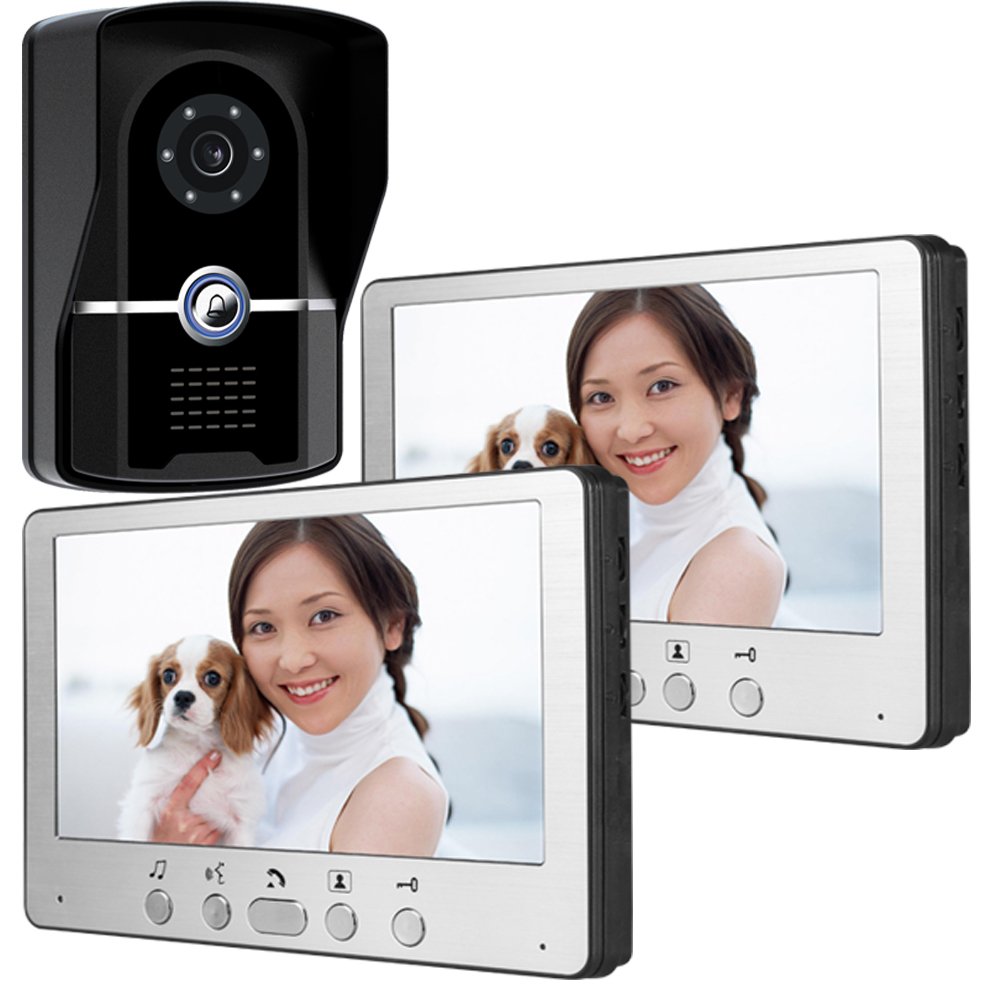 7 Inch 1V2 Rain-proof IP55 Wired Intercom Video Door Phone