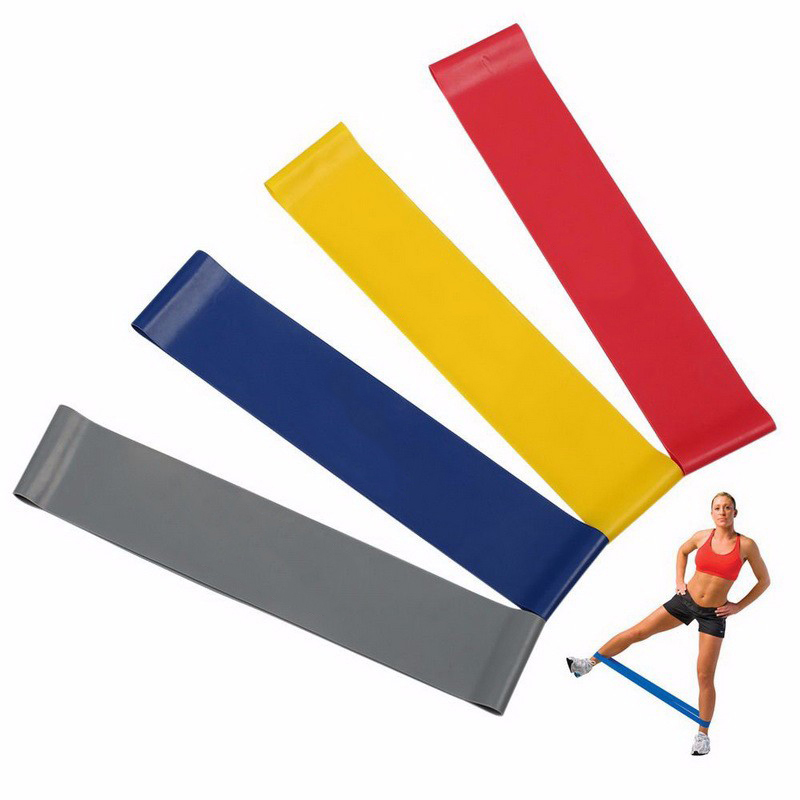 1pc Yoga Pilates Resistance Band Exercise Loop Latex Bands Fitness Loop rope Stretch Band Crossfit band for bodybuilding