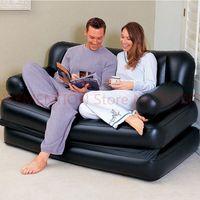 Двух человек место большое Кресло мешок шезлонг, сплошной черный надувные воздуха, диван, гостиная диван, крытый мебель комплект 1 шт.