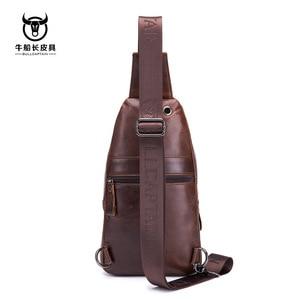 Image 3 - Brand 2020 High Quality Men Genuine Leather Cowhide Vintage Chest Back Pack Travel fashion Cross Body Messenger Shoulder Bag