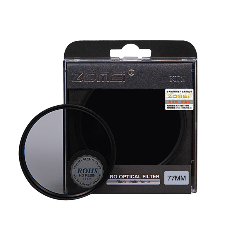 ZOMEI HIGH Quality Neutral Density filtro ND2 ND4 ND8 Filter for Canon Nikon Sony Pentax Camera Lens 52/55/58/62/67/72/77/82mm