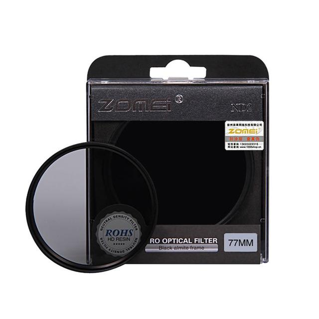 Zomei高品質中立密度フィルトロフィーnd2 nd4 nd8フィルターキヤノンニコンソニーpentaxカメラレンズ52/55/58/62/67/72/77/82ミリメートル